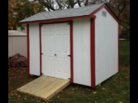 Cape May shed - 8x10 doors center