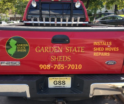 Garden State Sheds truck